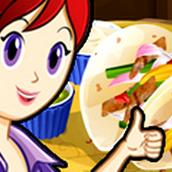 Игра Готовить Фахитас с курицей: Кухня Сары
