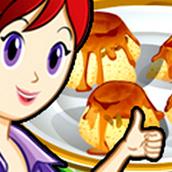 Игра Готовить Пудинг с изюмом: Кухня Сары