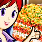 Игра Готовить Лазанья: Кухня Сары