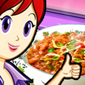 Игра Готовить Чили с мясом: Кухня Сары