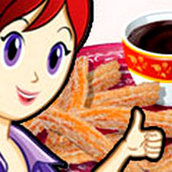 Игра Готовить Шоколадный чуррос: Кухня Сары