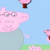 Игра Свинка Пеппа собирает буквы
