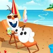 Олаф отдыхает на пляже
