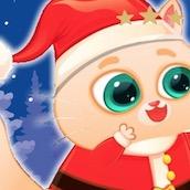 Игра Котик Бубу в Новый Год: Пазл