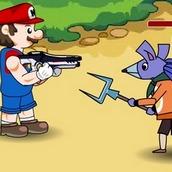 Игра Стрелялки Марио на двоих