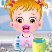 Игра Прием у стоматолога: Малышка Хейзел