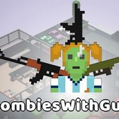 Игра Зомби с пушками