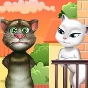 Игра Поцелуй говорящего кота Тома с Анжелой